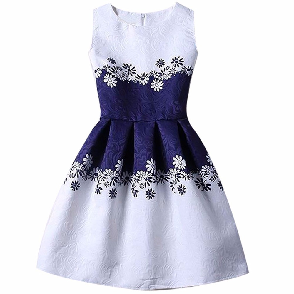 2018 New Fashion Summer Flower Girls Clothes 6 7 8 Yrs Birthday Children Clothing Wedding Party Kids Dresses Girl Princess Dress sunny fashion girls dress birthday cupcake polka dot birthday princess 2018 summer wedding party dresses kids clothes size 3 8