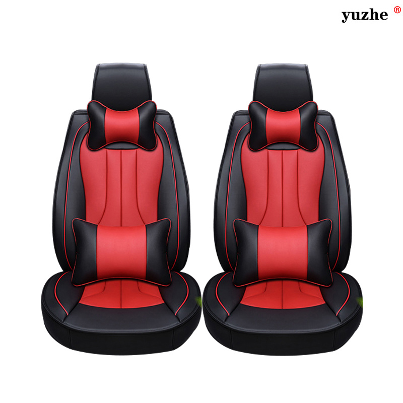 2 pcs Leather car seat covers For Ssangyong Rodius ActYon Rexton Korando Tivolan XLV car accessories styling red blue purple
