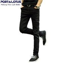 Порт и лотоса мода свободного покроя джинсы новое поступление с молнией лету сплошной цвет карандаш брюки slim-подходят мужчины джинсы 022 оптовая продажа