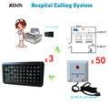Sistema de Campana de Llamada De Enfermera del hospital Enfermera Electrónica Equipo de Emergencia Mini Localizador con 3 pantalla 50 botones