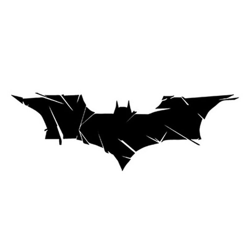 17.5*6CM Crack Batman Personalized Fashion Car Decorative Stickers Classic Creative Automotive Accessories Sliver/Black C4-0076 14 4 15 1cm goose hunting hunter personalized car reflective car stickers black silver c7 0063