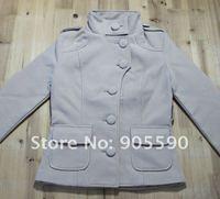 бесплатная доставка двубортный женщин зимы кашемира шерстей благородный длинное пальто 3 цвет
