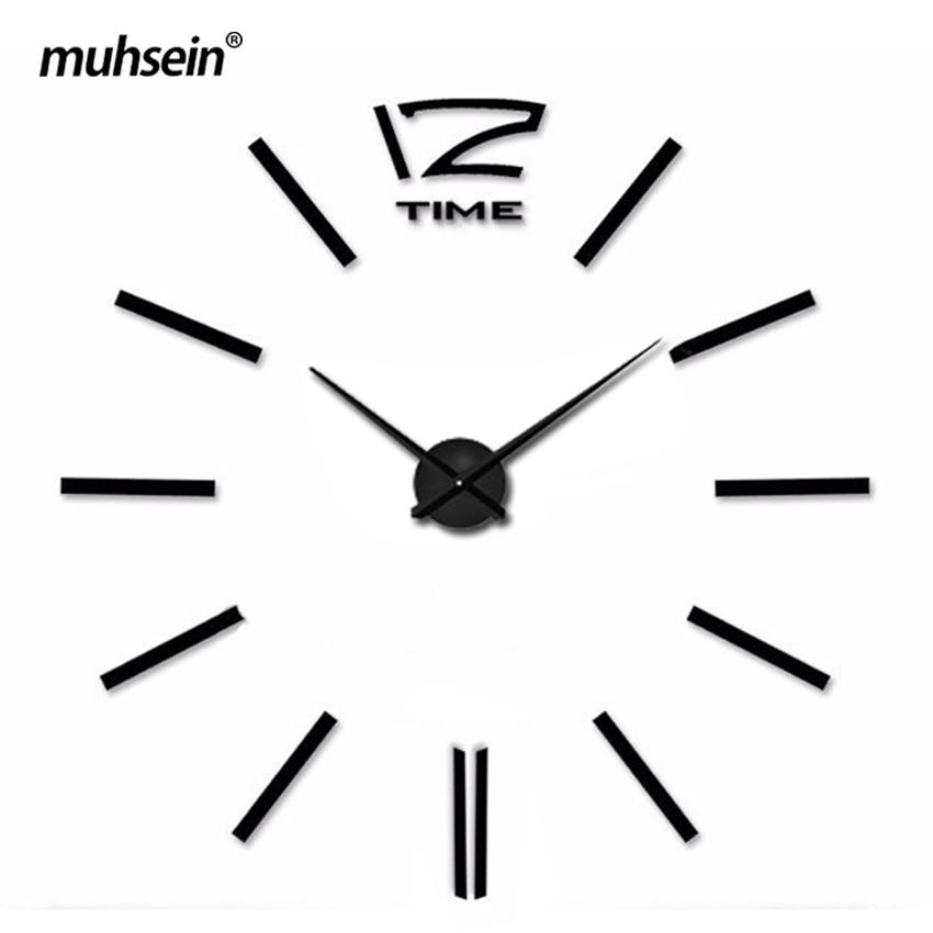 Metal Eva Acrylic Muhsein 2017 New Free Shipping Fashion <font><b>clocks</b></font> Big size Mirror wall stickers Wall <font><b>Clock</b></font> Home Decor Wall Watch