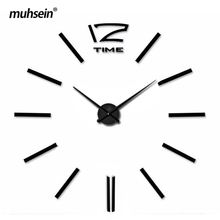 Metal Eva Acrylic Muhsein 2017 New Free Shipping Fashion font b clocks b font Big size