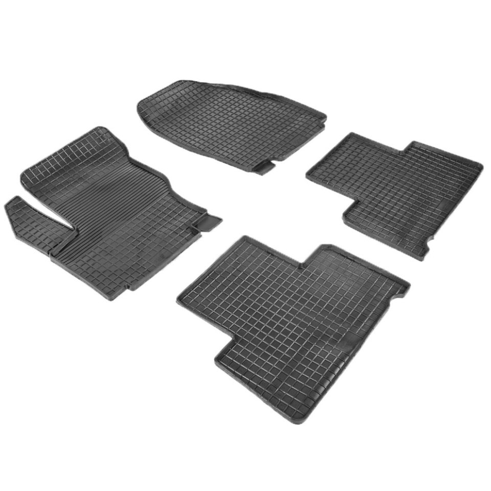 цена на Rubber grid floor mats for Ford S-Max 2006 2007 2008 2009 2010 2012 2014 2015 Seintex 00367