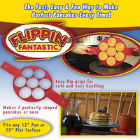 2017 Hot Selling Flippin Fantastic Nonstick Pancake Maker Egg Ring Maker Perfect Pancakes Easy Eyebrow Baking