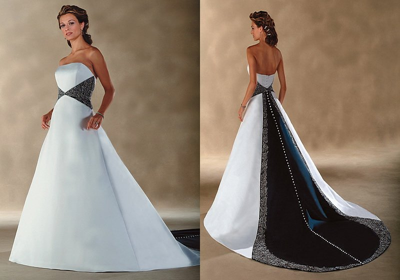 Free Shipping Gorgeous A line Strapless Beaded Satin Designer ...