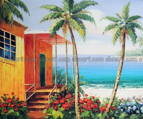 Aliexpress.com : Buy 100% hand painted Mexican Beach House Surf ...