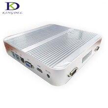 Kingdel 3 год гарантии безвентиляторный мини настольных ПК Barebone i5 4200U 4 ГБ 8 ГБ 16 ГБ Оперативная память промышленные компьютер Windows 10 2 * RS232