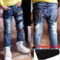 New Year's , autumn Winter new children's Velvet jeans boys wild baby kids fashion jeans children jeans for 3-12Y