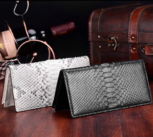 Lidies genuine real python leather women wallet long clutch wallet