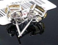бесплатная доставка! серебро 925 серьги установка с прод желтый цитрин, мода полутвердая Dragon CAM ювелирные изделия, e050708agj
