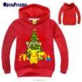 2016 niños de la Navidad del árbol de Navidad y Picacho Hoodies Niños Ropa de Algodón boy & girl Jerseys Navidad Traje de Fiesta para 3-11yr