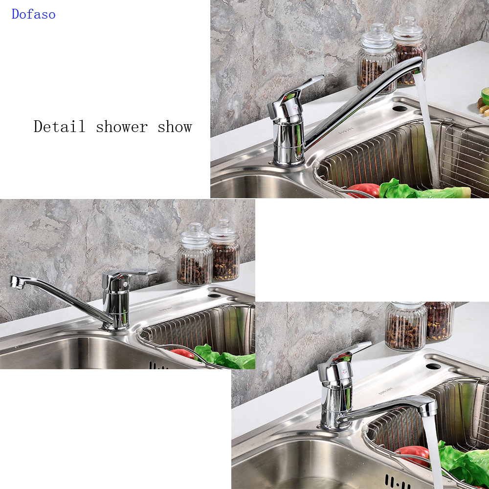 Dofaso Free Shipping All Brass Kitchen Faucet Mixer Cold And Hot Kitchen Tap Single Hole Water Kitchentaps Torneira Cozinha
