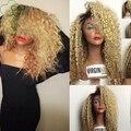 Blonde Virgin Hair 1b#613# Virgin Brazilian Hair Full Lace Front Human Hair Wigs Curly Glueless Full Lace Wigs For Black Women