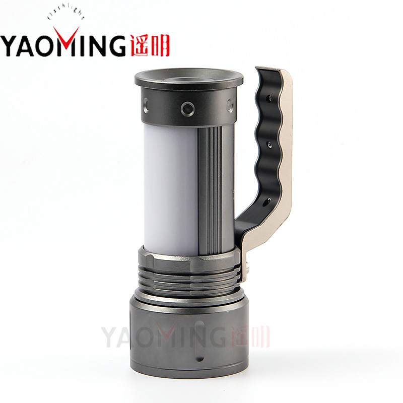 Zoomable CREE Q5 3800LM waterproof rechargeable powerful led flashlight searchlight by 2*18650 camping hand lamp