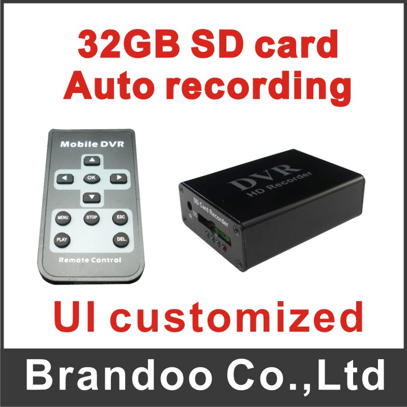 Wholesale 1 channel CAR DVR, works with 1 car camera, support 64GB sd card, used on taxi, bus
