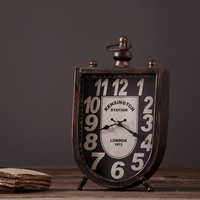 American style iron table vintage clock handmade oversized luxury wall clock Bar restaurant cafe clothing store decoration
