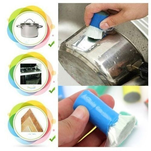 1 set X Stainless Steel Metal Rust Remover Cool Cleaning Stick Brush Tool