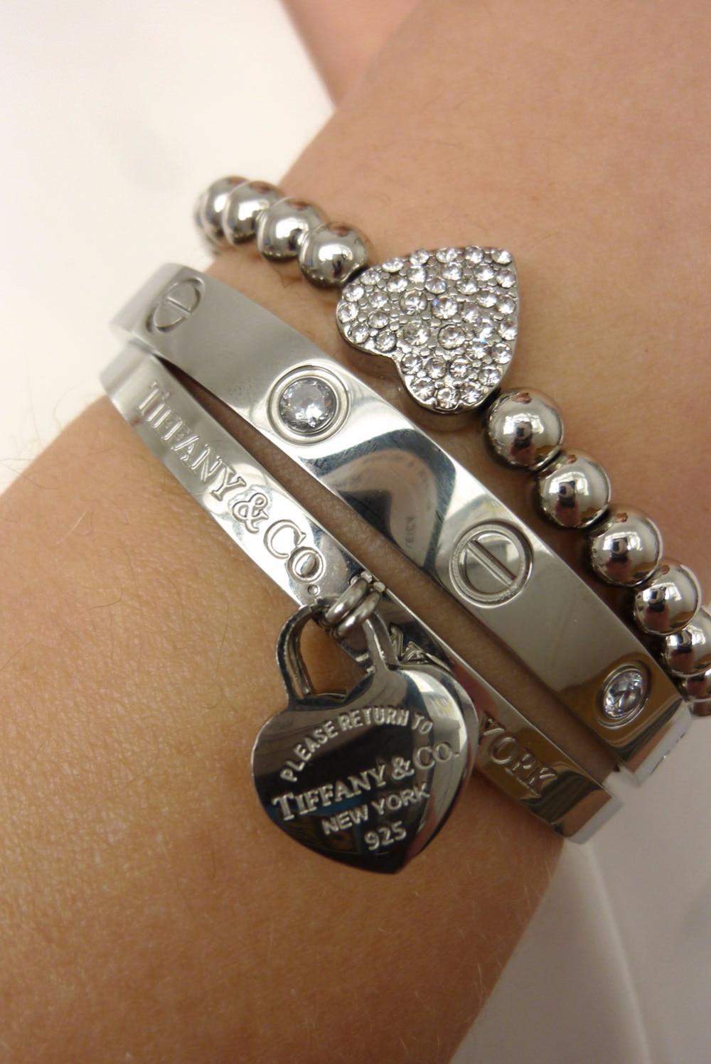 Оригинальные браслеты от тиффани