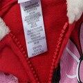 Frete grátis menina mangas compridas red minnie hoodies casaco com zíper fora casaco de lã de inverno