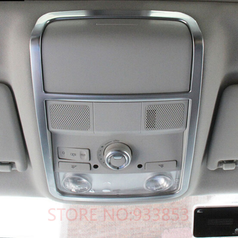 Car ABS Front Reading Lamp Interior Frame Cover Trim For  LHD VW JETTA MK6 2012-2015 PASSAT B7 2013