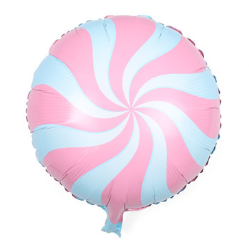 100pcs/lot 18 inch Lollipops Shape Foil Balloons 45cm Round Candy Balloon Kids Foil Inflatable balloon
