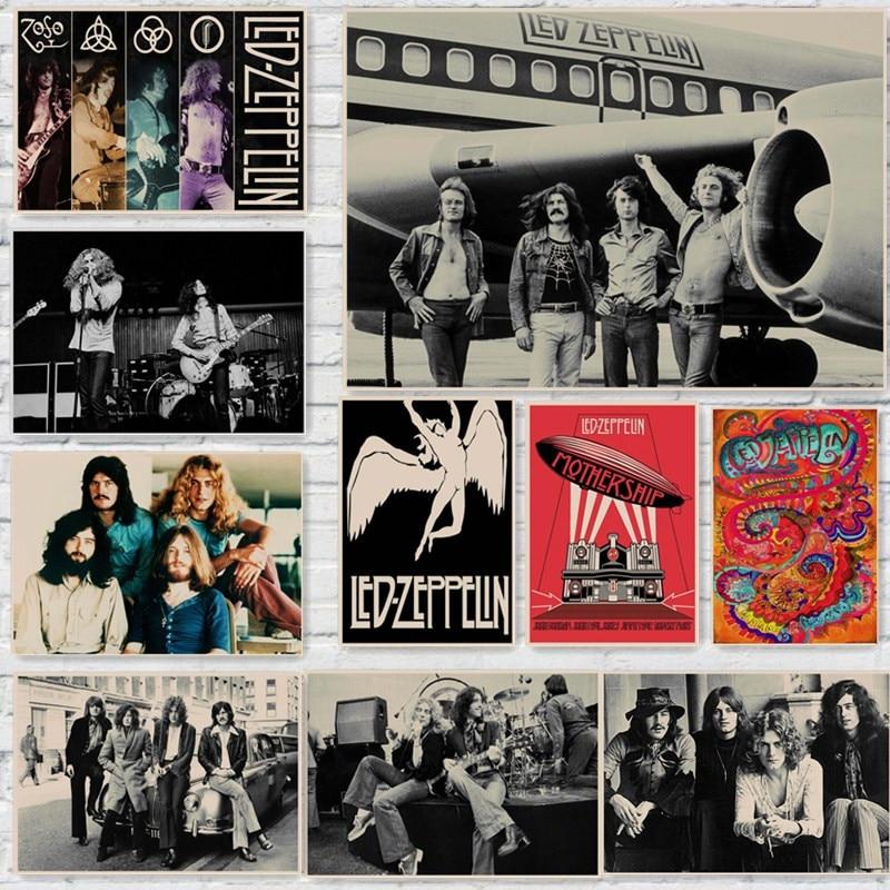 Led Zeppelin Rock Carteles Estilo Pegatinas de Pared de Decoración Del Hogar de