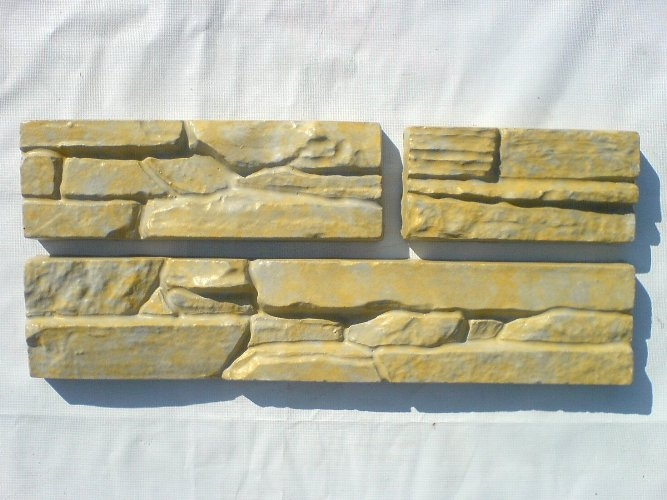 Set 5 Plastic Molds for Concrete Plaster Wall Stone ABS Tiles ...