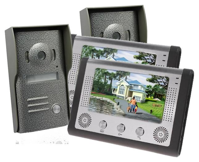 Freeship by DHL 7 Inch Video Door Phone Doorbell Intercom Kit IR Night Vision Camera Door Bell Rainproof Door Camera