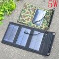 Nueva llegada 5 w cargador solar portátil para el teléfono móvil iphone ipad plegable mono panel solar + cargador solar plegable usb cargador de batería