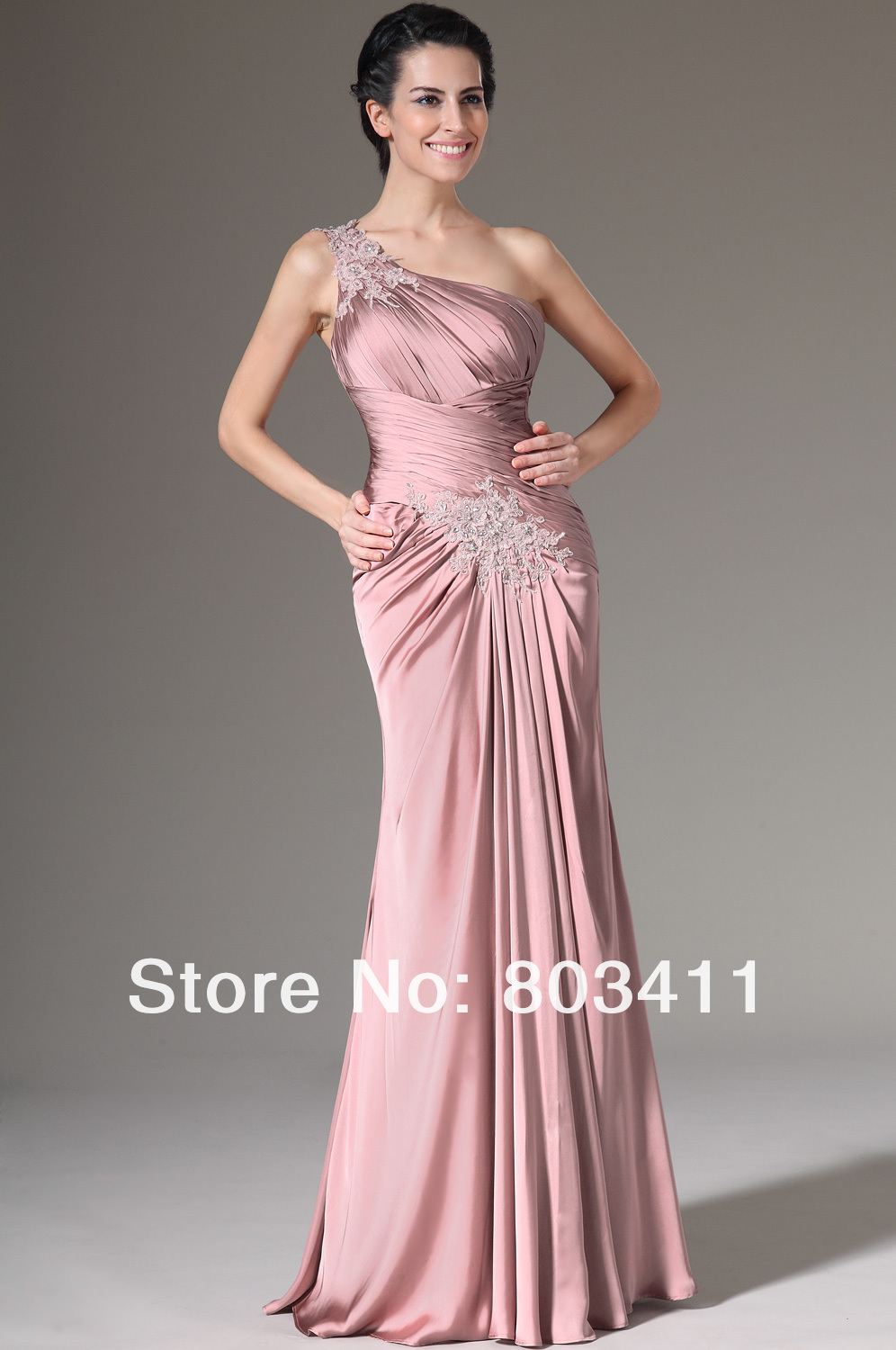 Freeshipping New Pink Crepe Satin Bolero 2 Pieces Formal Gown Mother ...