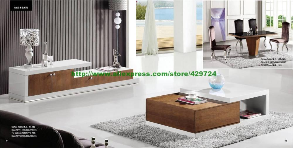 aliexpress white and wood color furniture living room