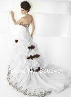 популярные розовыми цветами милая свадебное платье красный и белый