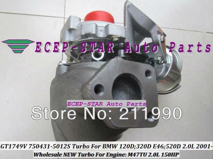 GT1749V 750431-5012S 750431-5009S 750431 Turbo Turbine Turbocharger For BMW 120D 320D E46 520D 2.0L 2001- M47TU 150HP (2)