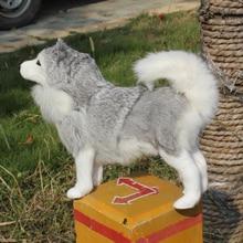 christmas decoration lifelike husky