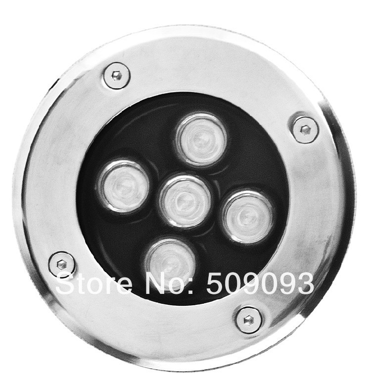 20 шт./лот IP67 Epistar высокого Мощность светодиодный подземный светильник 5 Вт AC85V-265V грунтовый светильник/лампа для вкапывания в землю