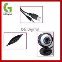 оптовая продажа 10 шт./лот 30.0 мега USB кабель 6 из светодиодов пк фотоаппарат W / микрофон с розничная упаковка + бесплатная доставка