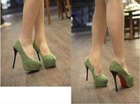 сексуальное стилет блесток туфли на высоком каблуке