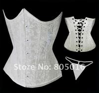 сексуальные женщины костей cincher грудью бюстье костюмы белье + г - строка комплект черный