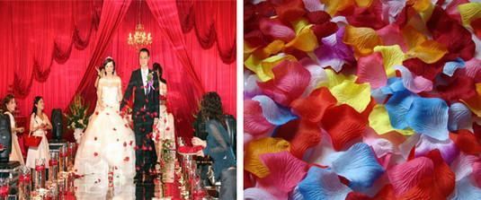 2000 шт. синий искусственного шелка лепестки роз свадьба лепесток цветы свадебных мероприятий аксессуары 4.5 см 38-цветов