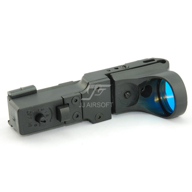 Elemento seemore ferroviário reflex C-MORE vista (preto