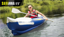 Freeshipping 9'9″fishing man inflatable kayak 292*80cm, 2 Aluminium paddles, air pump, carry bag, repair kit ,Drifting boat
