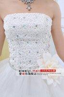 в - в-складе бесплатная доставка оптовая продажа скидка 2011 простой свадебные платья / скидка платье wade / Уэйд официальный платье