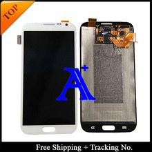 Free Shipping + 100% tested original For Samsung Galaxy note 2 N7100 LCD  Digitizer Assembly – White/Grey