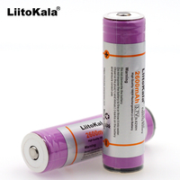 Liitokala  Original 3.7V 18650 2600AMH ICR18650-26F Lithium Battery Rechargeable  Battery PCB Protection Board  for Replacement Batteries