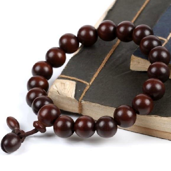 comprar online b6817 54f82 € 19.92 20% de DESCUENTO|Pulsera tibetana de cuentas de madera Jujube  pulsera tibetana Mala pulsera de oración budista-in Pulseras de tira from  ...