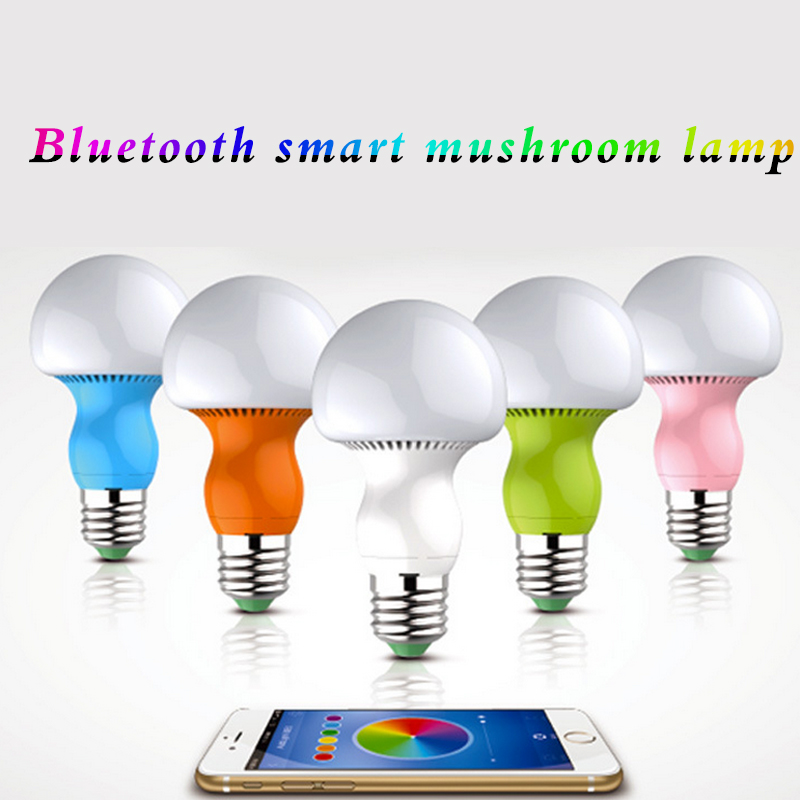 wireless bluetooth mushroom bulb led night light with e27 base color. Black Bedroom Furniture Sets. Home Design Ideas