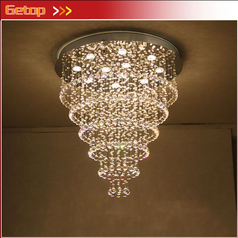 ZX Hot Sale Luxury K9 Crystal GU10 LED Chandelier Round Shape Ceiling Lamp for Living Room Bedroom Restaurant Study zx hot sale solid wood iron nut e27 led chandelier height adjustable for dining room bar bedroom