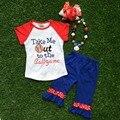 Crianças temporada de beisebol roupas meninas TAKE ME para HTE BALLGAME de roupas meninas boutique de roupas com acessórios